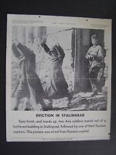 VTG WWII Feb 23 1943 Tel-Pics War Bonds Poster Soldiers Eviction in Stalingrad