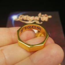 Sz10 Gold Rahu Fortune Ring 8 Direction Thai Buddha Amulet Luck Magic Power Yant