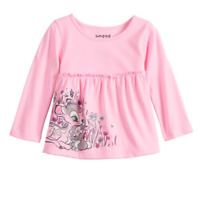 Disney's Bambi Baby Girl Babydoll Top by Jumping Beans, Size: 18M