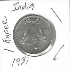 3 India Coins 2008 1 Rupee,2011 2 Rupee,1981 1 Rupee