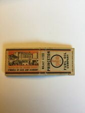 Vintage Matchbook Cover Princeton Fuel Oil Company New Jersey Historical