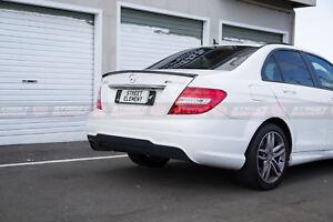 AMG Style Spoiler For 2008-2014 Mercedes-Benz W204 C-Class Sedan (PEARL BLACK)