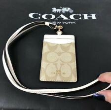 "COACH Signature ""C""  Lanyard Badge ID Card Case Holder F63274 New"