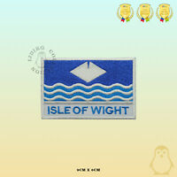 ISLE OF WIGHT County Flag With Name Embroidered Iron On Sew On Patch Badge