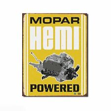 Mopar Hemi Powered Car Engine Distressed Retro Vintage Wall Decor Tin Sign New