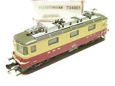 (G201) Fleischmann N SBB Re 4/4 beige/rot 734001 OVP