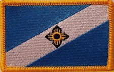 Madison Wisconsin Flag Morale Patch With VELCRO ®  Brand Fastener GOLD Border