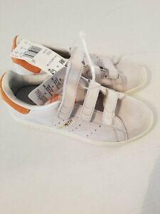 Adidas Originals Stan Smith CF W Crystal White Trace Orange Shoes CQ2788 Sz 5.5