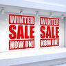 2 x WINTER SALE NOW ON! Shop Window Vinyl Stickers Retail Decals