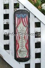 "Huge! USA FLAG THERMOMETER ""America My Home Sweet Home"""