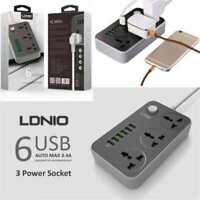 Outlets Power Strip with 6 Smart USB Port Extension Lead Surge Protector Pro