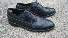 VINTAGE 9 1/2 E FLORSHEIM WINGTIP Black DRESS or Business SHOE
