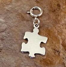 Sterling Silver Puzzle Piece Charm-Fits European & Link Charm Bracelets-2650
