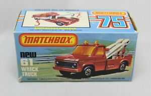 """Matchbox Lesney Superfast No61 WRECK TRUCK Empty """" K TYPE BOX with NEW """""""