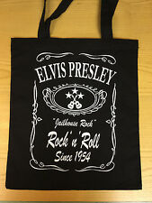 ELVIS PRESLEY JAILHOUSE ROCK BLACK COTTON  TOTE BAG