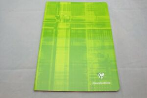 """Clairefontaine Staplebound Notebook  6 1/2"""" X 8 1/4"""" French Ruled Green"""