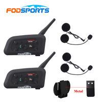 2x V6 pro-1200M Intercomunicador Interphone Bluetooth Auriculares Moto Interfono