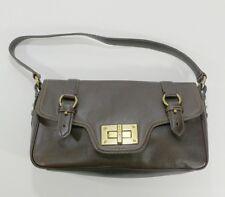 Ralph Lauren Chocolate brown Leather Handbag purse Buckle vintage 4706511ff72f2