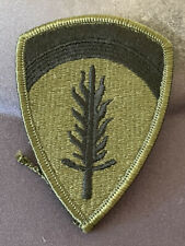 US Army Supreme HQ Allied Expeditionary Forces OD Green/Black Subdued
