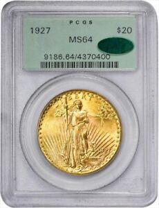 1927 $20 Saint Gaudens Gold Double Eagle - PCGS MS64 CAC - Superb GEM!