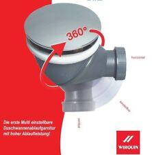 Duschablauf, Siphon, variabel einstellbar bis 360 Grad, Durchmesser 90mm