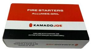 24 Count Kamado Joe KJ-FS Chemical-Free Odorless Safe Outside Fire Starter Cube