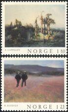 Norway 1977 Norwegian Art/Paintings/Artists/Trees/Landscape/People 2v set n44871
