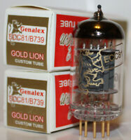 Matched Pair Genalex Gold Lion 12AT7 / ECC81 / B739 tubes, Brand New in Box