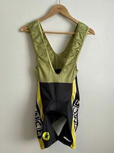 Castelli Cycling Padded Bib Shorts Men's L Black Once Bicycle Made in Italy