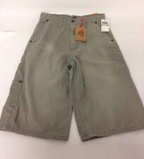 Red Snap Rs Boys Grey Stone 100% Cotton Denim Cargo Shorts Age 12 Street Wear