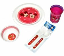 Disney Mickey Mouse & Minnie 5-pieces Dining Set Pink Hearts NEW