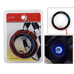 Ignition Switch Key Hole Ring Blue Light Fit For Ford Everest 2011-2018