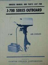 Clinton J-700 Outboard Operator, Parts & Wards Sea King Service (2 Manuals)