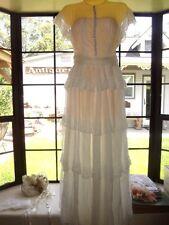 Vintage 40s Wedding Dress Sheer Ivory Lace Beach Summer