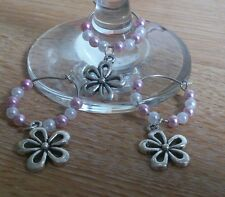 Any 3 Wine glass charms - wedding, leopard,  heart, leaf. Daisy for £1.50