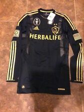 New MLS Cup LA GALAXY TECHFIT LONG SLEEVE 2012 3rd Jersey Player Issue Medium