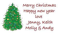 260 White Designed Labels / Address / handmade by /  Design 24 Christmas tree