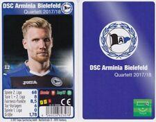 DSC Arminia Bielefeld Quartett Kartenspiel 2017/2018 Fußball Ball Neu OVP
