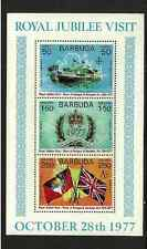 BARBUDA ISSUE MINT CONDITION MINISHEET - SILVER JUBILEE QE11 - 3 INSERT STAMP