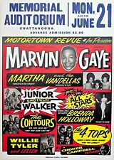 "Marvin Gaye / Martha Vandellas 16"" x 12"" Photo Repro Concert Poster"