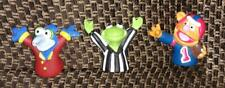 Muppets 1995 Dairy Queen football rubbery finger puppets - Kermit, Fozzie, Gonzo