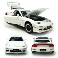 Mazda RX-7 1:32 Scale Model Car Metal Diecast Gift Toy Vehicle Kids White