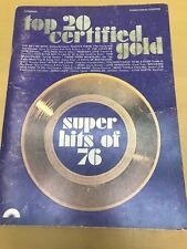 Super Hits of 76 - Top 20 Certified GOLD. Piano/Vocals/Chords Sheet Music