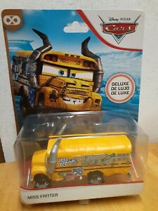 Disney Pixar Cars  Miss Fritter School Bus  Deluxe - Mattel diecast car