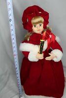 "Vintage 1988 26"" Telco Motion-ettes Christmas Caroler Girl Animated Illuminated"