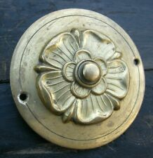 More details for a large reclaimed brass door servants bell push button  #02