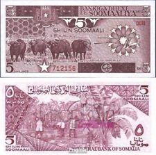 Somalië 31b UNC 1986 5 Shilling Büffel
