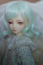 1 3 8-9 Bjd wig MSD MDD Luts Obitsu60 DD Doll green short wig hair