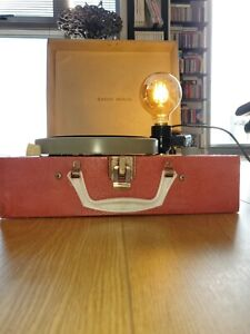 Upcycled Vintage Record Player Lamp