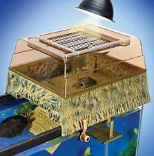 Turtle Basking Tank Pet Aquatic Cage Heat Lamp Platform Reptology Topper Reptile